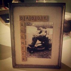 Easy Diy Projects Diy Photo Frame Crafts At Diy Photo, Cadre Photo Diy, Photo Craft, Diy Father's Day Gifts, Father's Day Diy, Diy Christmas Gifts, Craft Gifts, Diy Craft Projects, Photo Projects