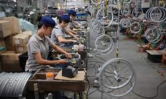 China's manufacturing activity has surged to a five-month high. That's good news for the country's leadership which is accepting slower growth as it wants the nation to move towards a more sustainable development. Mtb, Forms Of Communication, Sustainable Development, Mountain Biking, Sustainability, Bicycle, China, Activities, Biking