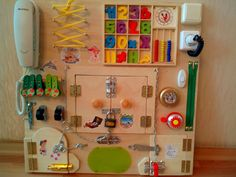 Busy Board Activity Board Sensory Board by BusyBoardOlga on Etsy Sensory Games, Sensory Wall, Sensory Boards, Baby Sensory, Toddler Gifts, Toddler Toys, Baby Toys, Kids Toys, Infant Activities