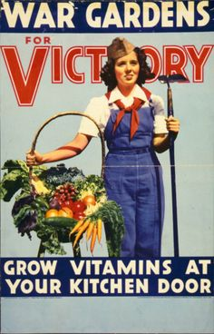 Propaganda Art for WWI and WWII: 18 Fantastic Victory Garden Posters ~ vintage everyday Pin Up Vintage, Vintage Ads, Vintage Posters, Vintage Labels, Vintage Food, Vintage Prints, Vintage Images, Vintage Stuff, Vintage Recipes