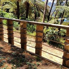 nautical rope fence maybe for dads cabin someday rope fence on wooden posts i like nautical net rope fence Rope Fence, Rope Railing, Diy Fence, Deck Railings, Fence Ideas, Railing Ideas, Cabin Decks, Balustrades, Moraira
