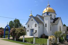 Ukranian Orthodox Church of St. Religious Architecture, Surrey, British Columbia, Taj Mahal, Mary, Spaces, Mansions, House Styles, Building