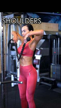 Cable Workout, Gym Workout Videos, Gym Workout For Beginners, Fitness Workout For Women, Gym Workouts, Shoulder Workout Women, Shoulder Gym, Shoulder Workout Routine, Back Exercises