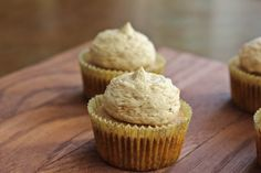 brown butter and cinnamon cupcake with a coffee buttercream frosting...what a great trio of flavors