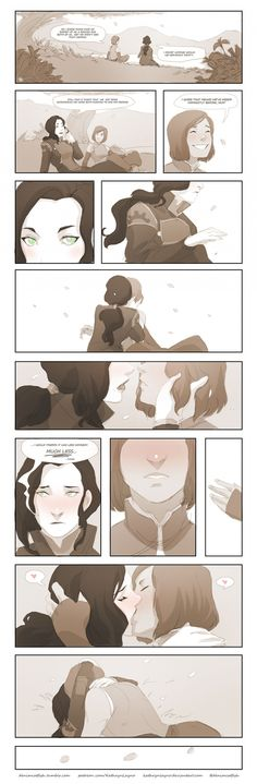 Korrasami Comic Something quick I worked on during my breaks from work today.