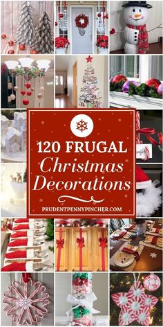 120 frugal christmas decorations christmas christmasdecor christmascrafts