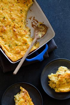 Jalapeno Cheddar Spoon Bread. Perfect for a southwest meal or to put at the bottom of your bowl of chili.