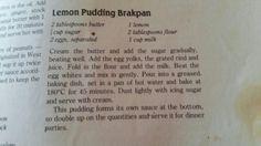 Lemon pudding brakpan