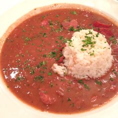 Red beans and rice at Dooky Chase