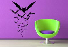 Flock of Bats Perspective - Vinyl Wall Art Decal Sticker. $32,00, via Etsy.