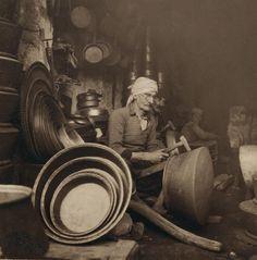 Arab metal workers in Nazareth, Palestine