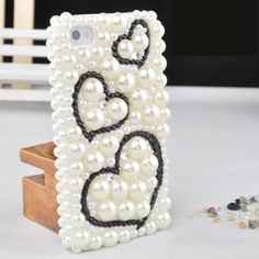 Luxury 3D Bling Pearl Crystal Rhinestone Back Cover Case for iPhone 5/4/4S (Love Heart) ,Best personalized gifts for him or her on Yoyoon.com