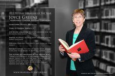 MC employee Joyce Greene is the 2012 Federal Librarian of the Year!