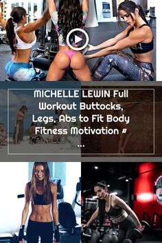 MICHELLE LEWIN Full Workout Buttocks, Legs, Abs to Fit Body Fitness Motivation #motivation #fitness Michelle Lewin, Body Fitness, Fitness Motivation, Abs, Workout, 6 Pack Abs, Work Out, Fit Motivation, Six Pack Abs