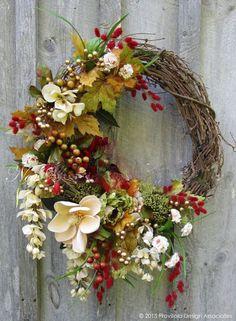 The Chic Technique: Fall Wreath, Autumn Wreaths, Thanksgiving Wreath, Harvest Decor, Elegant Fall Wreath Elegant Fall Wreaths, Autumn Wreaths, Holiday Wreaths, Wreath Fall, Tulle Wreath, Burlap Wreaths, Spring Wreaths, Harvest Decorations, Thanksgiving Wreaths