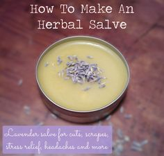 Making an herbal salve is really so much easier than it sounds. They look so sophisticated in their perfect round tins, but they're not at all difficult to make! The list of ingredients can become long, but here I'll show you how to make an easy lavender salve.       Lavender not only smells great but [...]