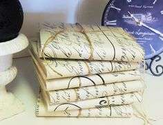 French Script Journal Jeanne d' Arc Notebook by OurVintageBliss