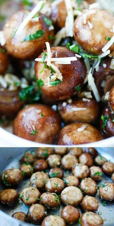 Garlic Herb Sauteed Mushrooms – best & easiest mushroom recipe that takes only 10 mins. Super delicious!!   rasamalaysia.com