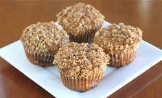 Pumpkin Cinnamon Streusel Muffins from www.twopeasandtheirpod.com