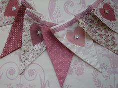 Shabby Chic Vintage look Banner Bunting  - found on etsy
