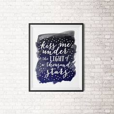 Ed Sheeran Watercolor Quote Kiss Me Under The by DesignsBySpec