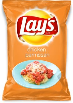 Chicken parmesan flavour crisps made by Lays Lays Potato Chip Flavors, Lays Chips Flavors, Lays Potato Chips, Oreo Flavors, Parmesan Chips, Chips Brands, Snack Items, Food Humor, Food Meme