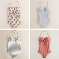 JCrew one pieces. Cuuuute.