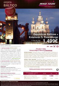 BÁLTICO: Circuito 11 días  Vilnius-Riga-Tallin + San Petersburgo  desde 1499€ - http://zocotours.com/baltico-circuito-11-dias-vilnius-riga-tallin-san-petersburgo-desde-1499e/