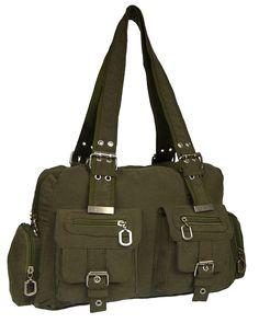 Tasche Damentasche Handtasche Stofftaschen Schultertasche 1041 (Grün)