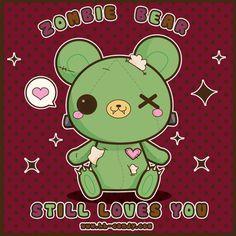 Zombie Bear Still Loves You by *A-Little-Kitty on deviantART