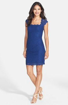 Adrianna Papell Lace Sheath Dress (Regular & Petite) | Nordstrom