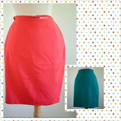 Pink and Blue Pencil Skirt Highlight your curves in this wonderful classic pink pencil skirt that's suitable for the office or a night on the town! Super Cute fit, and I also have it in blue! Make a wonderful well rounded look for the spring,  summer time! The skirt has one zipper, a slit in the back. Material 64% Polyester 33%Rayon 3% Rayon. Machine washable however, I recommend dry clean! Both pencil skirts are in Excellent Condition! Forever 21 Skirts Pencil