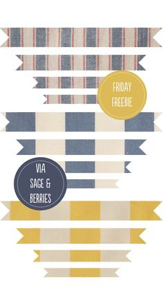 Friday freebies :: fabric banners