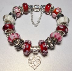 Authentic Pandora Bracelet designed with by QueenMeJewelryLLC, $199.00
