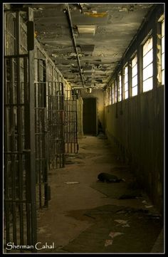 Death Row. Old historic Tennessee State Prison
