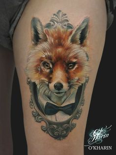 Clever Fox tattoo by Sasha O Kharin Geometric Tattoo Minimal, Minimal Tattoo, Mini Tattoos, Body Art Tattoos, Tattoo Ink, Goth Tattoo, Heart Tattoos, Fox Tattoo Design, Tattoo Designs
