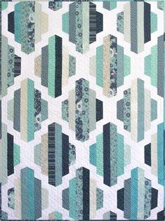 Modern Quilt Pattern, Garden Lattice, 2 sizes