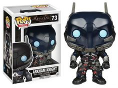 This is a Batman Arkham Knight POP Vinyl Figure that is produced by Funko. The Arkham Knight is an interesting character in the Batman universe and it's so cool to see him in Funko POP Vinyl style. Batman Arkham Knight, Joker Dark Knight, Funko Pop Marvel, Funko Pop Batman, Lego Batman, Spiderman, Figurines D'action, Pop Vinyl Figures, Hobbit
