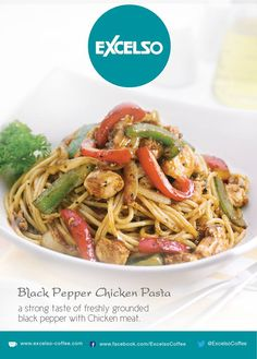 Black Pepper Chicken Pasta at Excelso Coffee