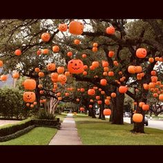🎃🎃🎃🎃 Goals! Never even thought to do this. Having a giant tree in the front would really help...hence, goals. But seriously cool though I… Halloween Tags, Moldes Halloween, Casa Halloween, Adornos Halloween, Halloween Designs, Theme Halloween, Halloween Celebration, Halloween 2019, Holidays Halloween