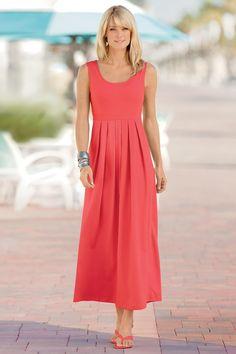 Long Pleated Knit Dress