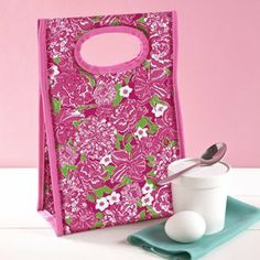 Lilly Pulitzer Lunch Tote - May Flowers by Lifeguard Press. $20.00. BPA-, Phthalate-, and Lead-Free. Micro-fiber EVA Lining. Keep your lunch as cool as you are with this Lilly Pulitzer lunch tote! Your friends will want to trade, but don't let go of your pretty packed sack! This lunch tote in Lilly's May Flowers pattern will have the lunch room set turning pink with envy! Buy two lunch bags so you'll always have one clean and ready for use!