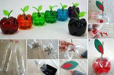 Apfel aus Pet Flasche