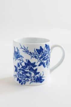 Bird & Flower Hand Painted Mug