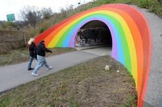 """""""Don Valley Parkway rainbow by """"Caretaker of Dreams"""" symbol of hope and love that has enchanted children and adults for decades, and even inspired a famous painting by Scottish artist Peter Doig"""" Peter Doig, Irving Penn, Alfred Stieglitz, Steve Mccurry, Jim Carrey, Beauty Photography, Fotografie Website, Business Photo, Graffiti"""