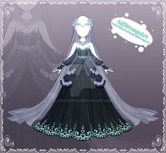 [Close] Adoptable Outfit Auction 176 by LifStrange on DeviantArt Dress Design Drawing, Dress Drawing, Drawing Clothes, Clothing Sketches, Dress Sketches, Clothing Templates, Style Feminin, Anime Girl Dress, Fantasy Dress