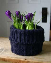 Make a planter out of a lost sock.