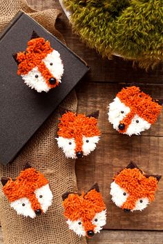You don't have to be a professional decorator to make cute little fox cupcakes. They're so simple even the kids can make them with you.