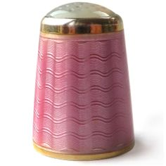 A Vintage Norwegian Silver Pink Enamel Thimble with Stone Top Aksel Holmsen | eBay / Feb 09, 2014 / GBP 222.00