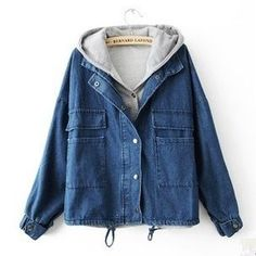 Fashion students cowboy hooded fleece jacket